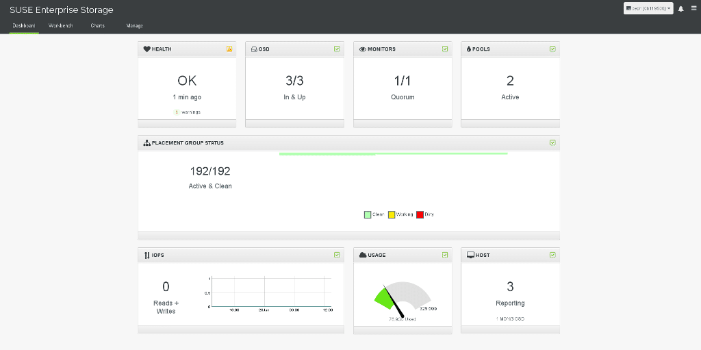 Calamari, das SUSE Enterprise Storage Dashboard